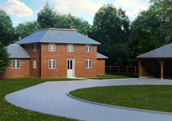 CGI Rendering Brickwall Cottage